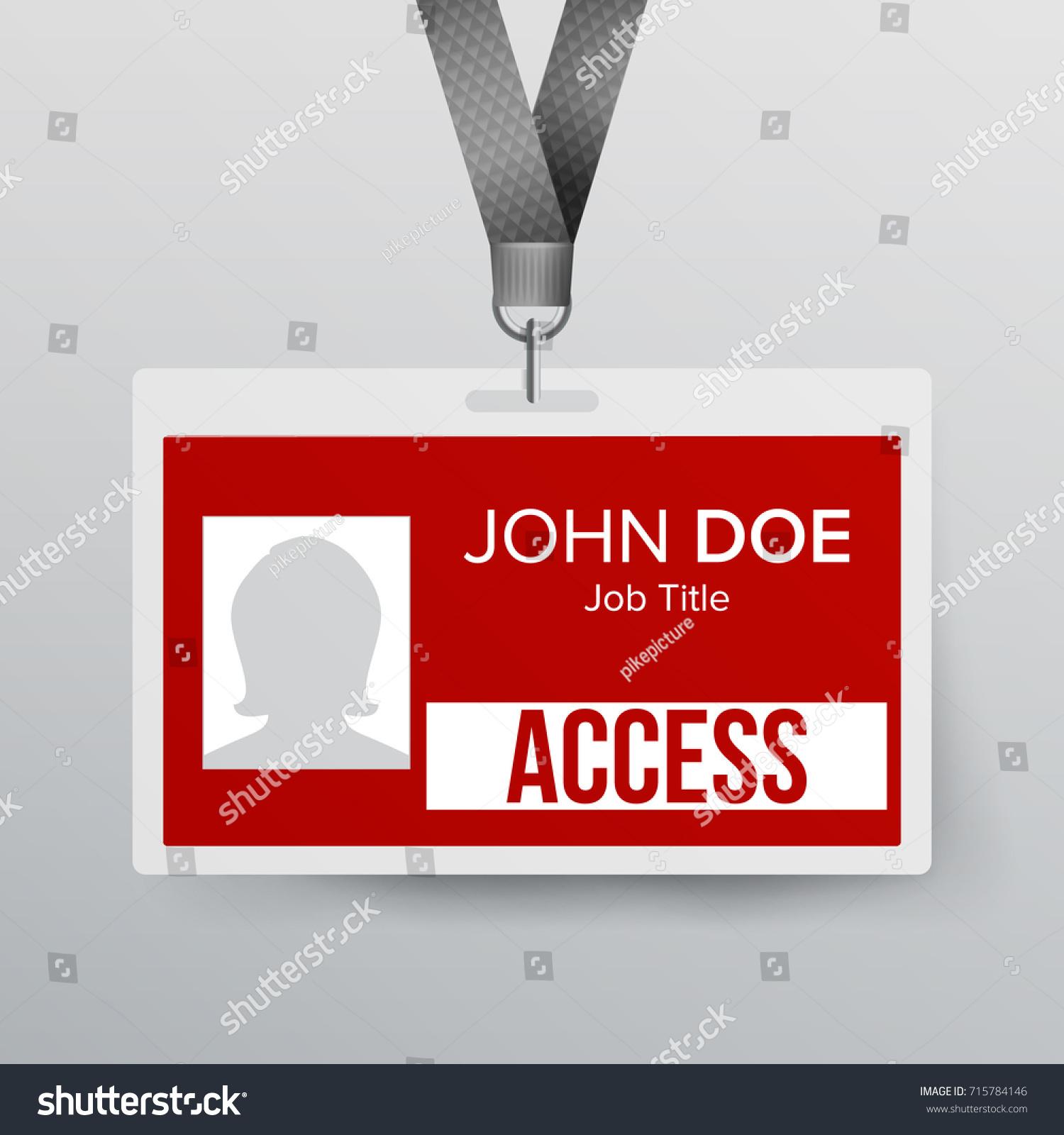 Press Pass Id Card Plastic Badge Stock Illustration 715784146
