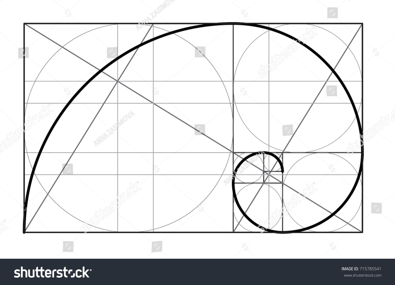minimalistic style design golden ratio geometric stock vector rh shutterstock com golden ratio vector free golden ratio vector free