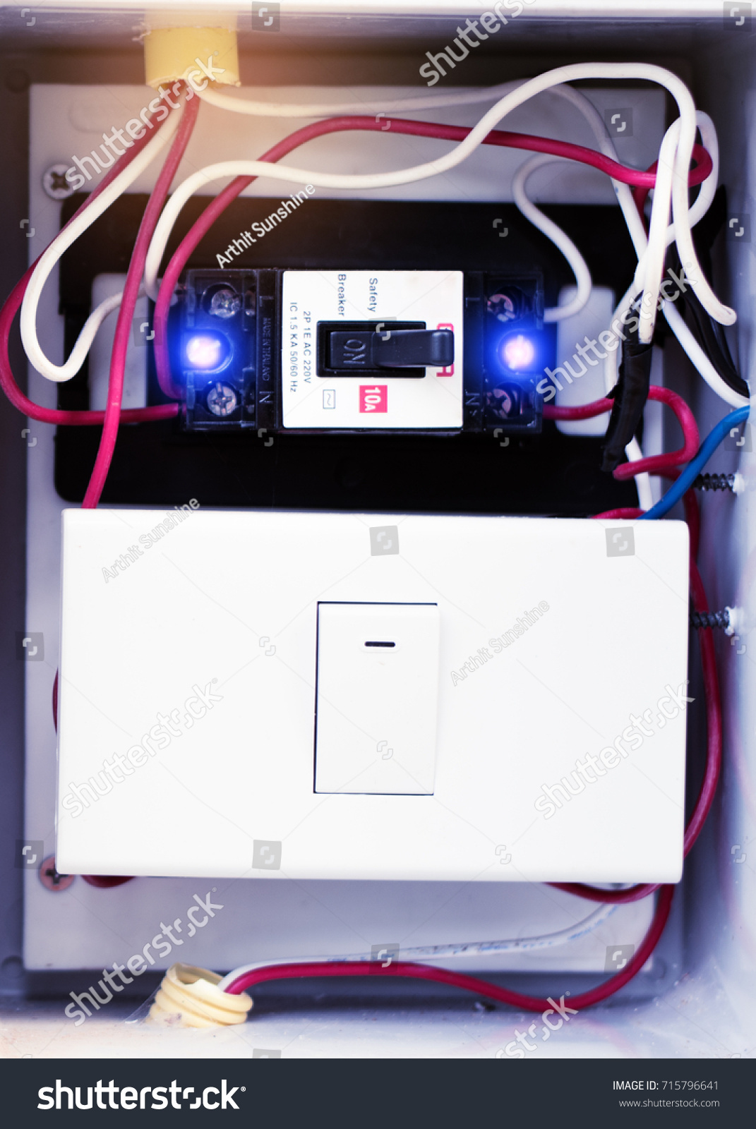 Breaker Switch The Circuit New Breakers Control Stock Photo Edit Short Protection To Your Power Supply And Switchthe In Boxmodern