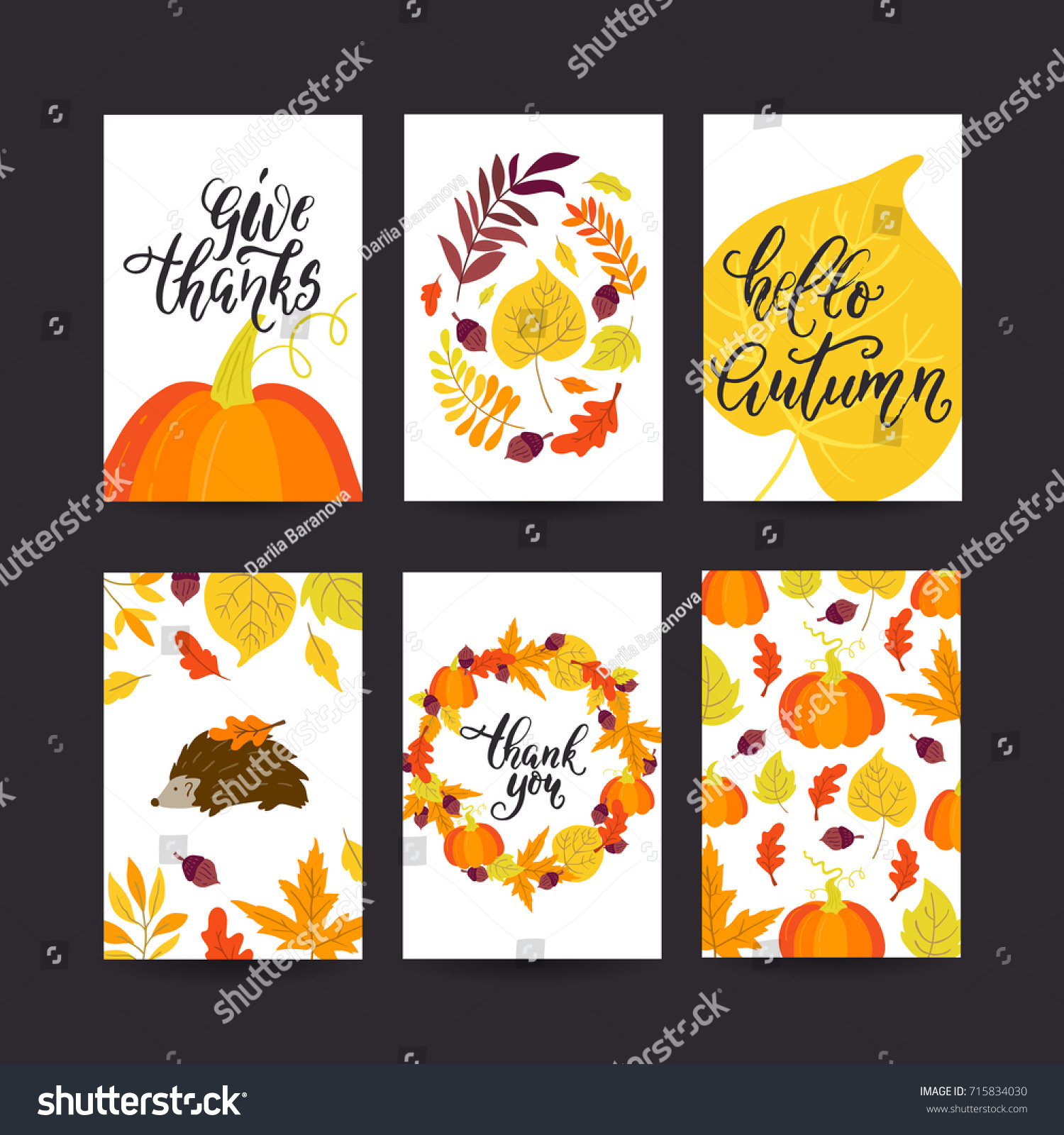 vector thanksgiving day greeting card flyer stock vector royalty