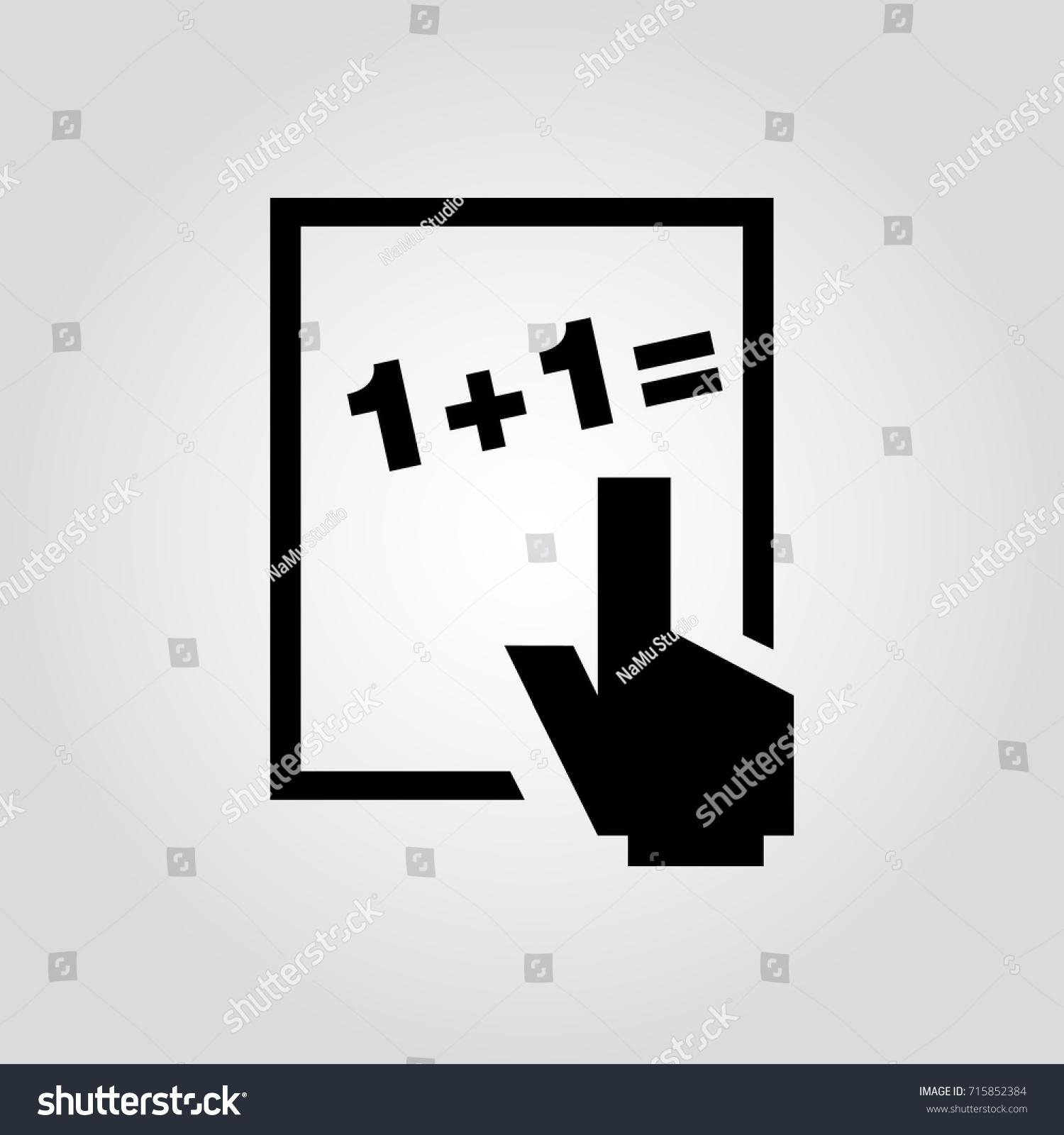 Board Math Problem Icon Whiteboard Icon Stock Photo (Photo, Vector ...