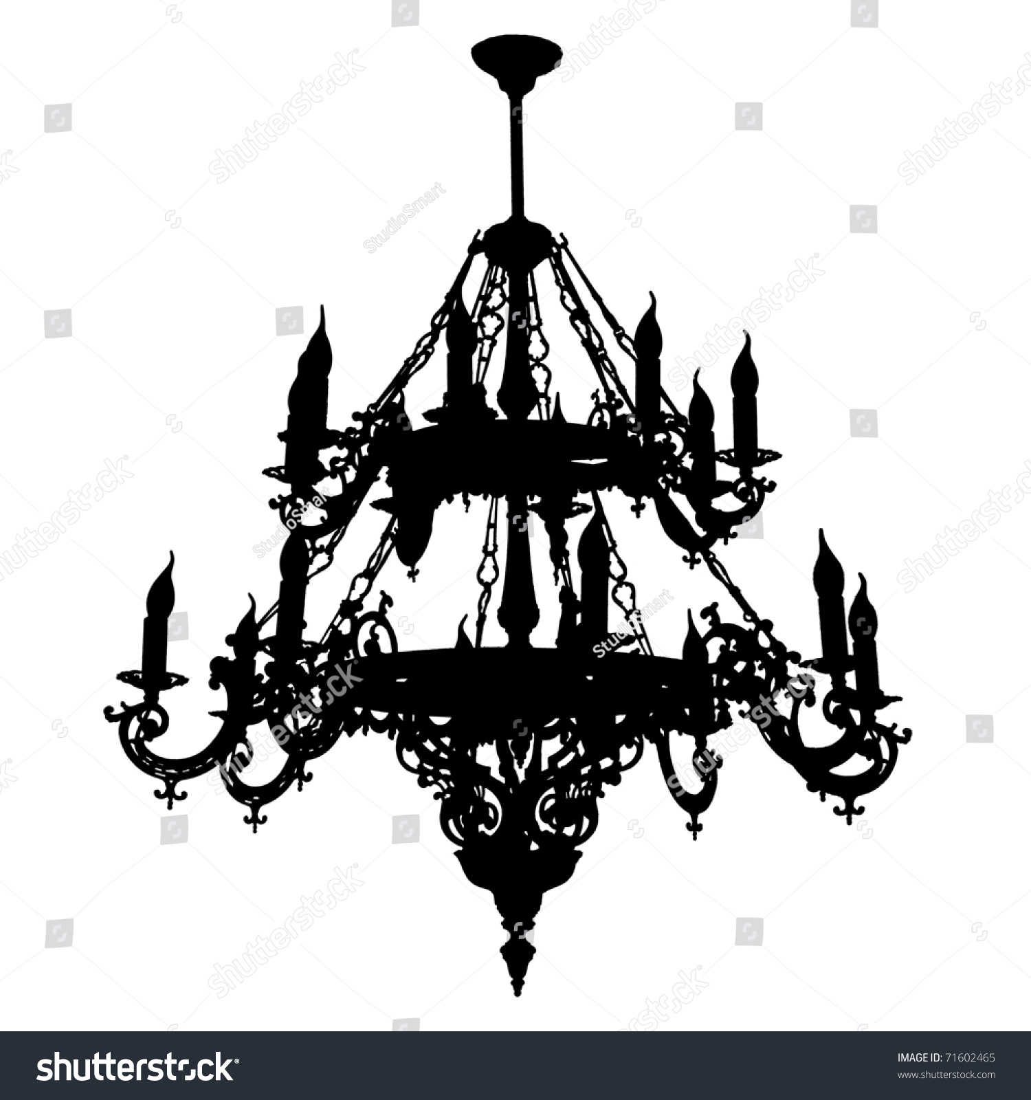 Chandelier Silhouette Stock Photo 71602465 - Shutterstock