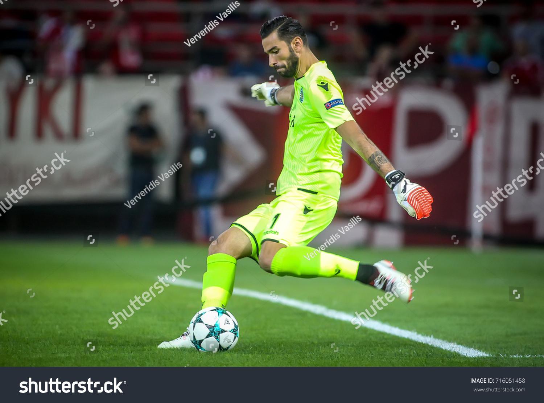 Piraeus Greece Sempteber 12 2017 Player Stock