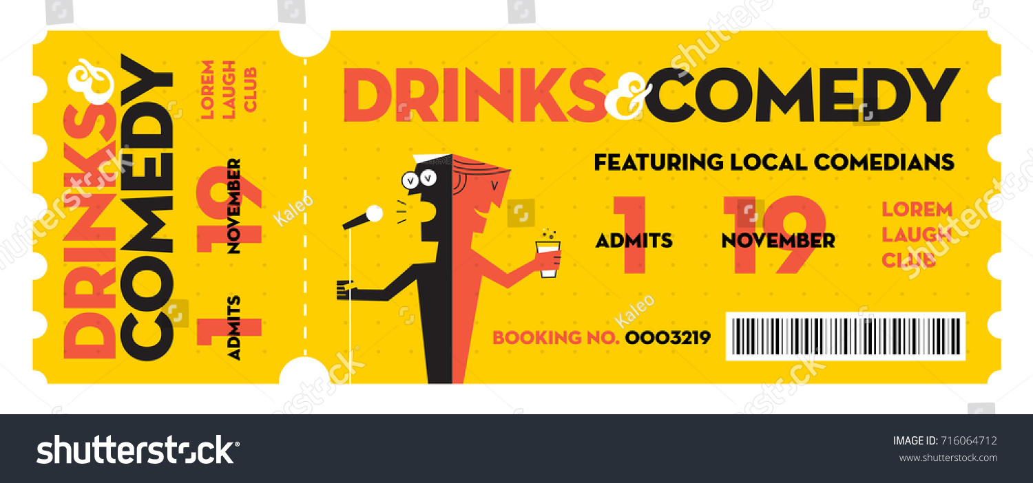 Stand Comedy Show Entry Ticket Modern Vector 716064712 – Entry Ticket Template