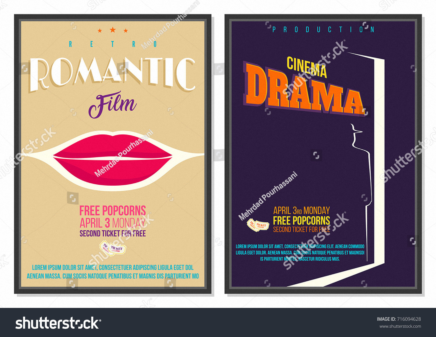 Vintage Retro Style Vector Movie Poster Stock Vector Royalty Free
