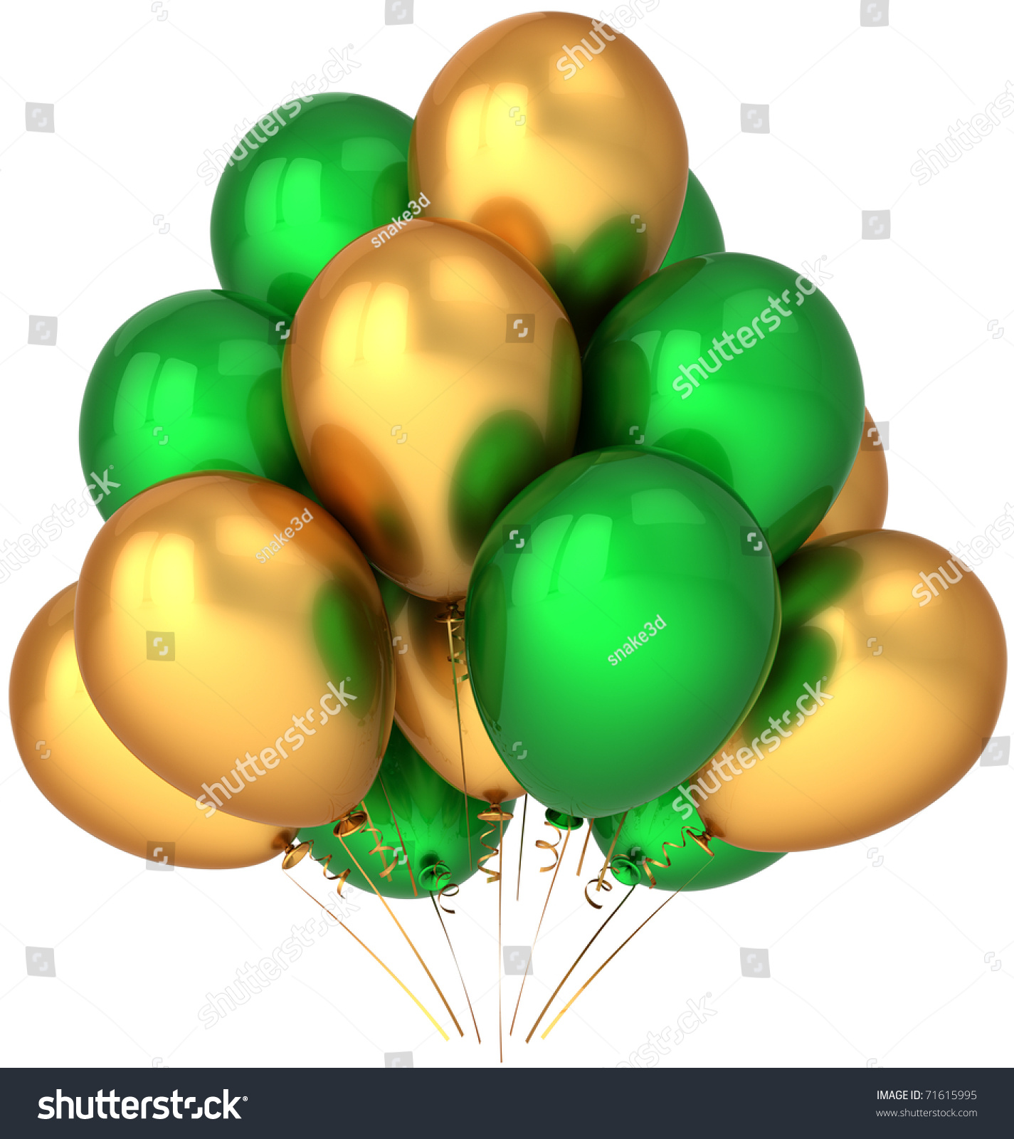 Party Balloons Gold Green Yellow Golden Birthday Decoration Anniversary  Graduation Retirement Holiday Celebrate Jubilee Greeting Card