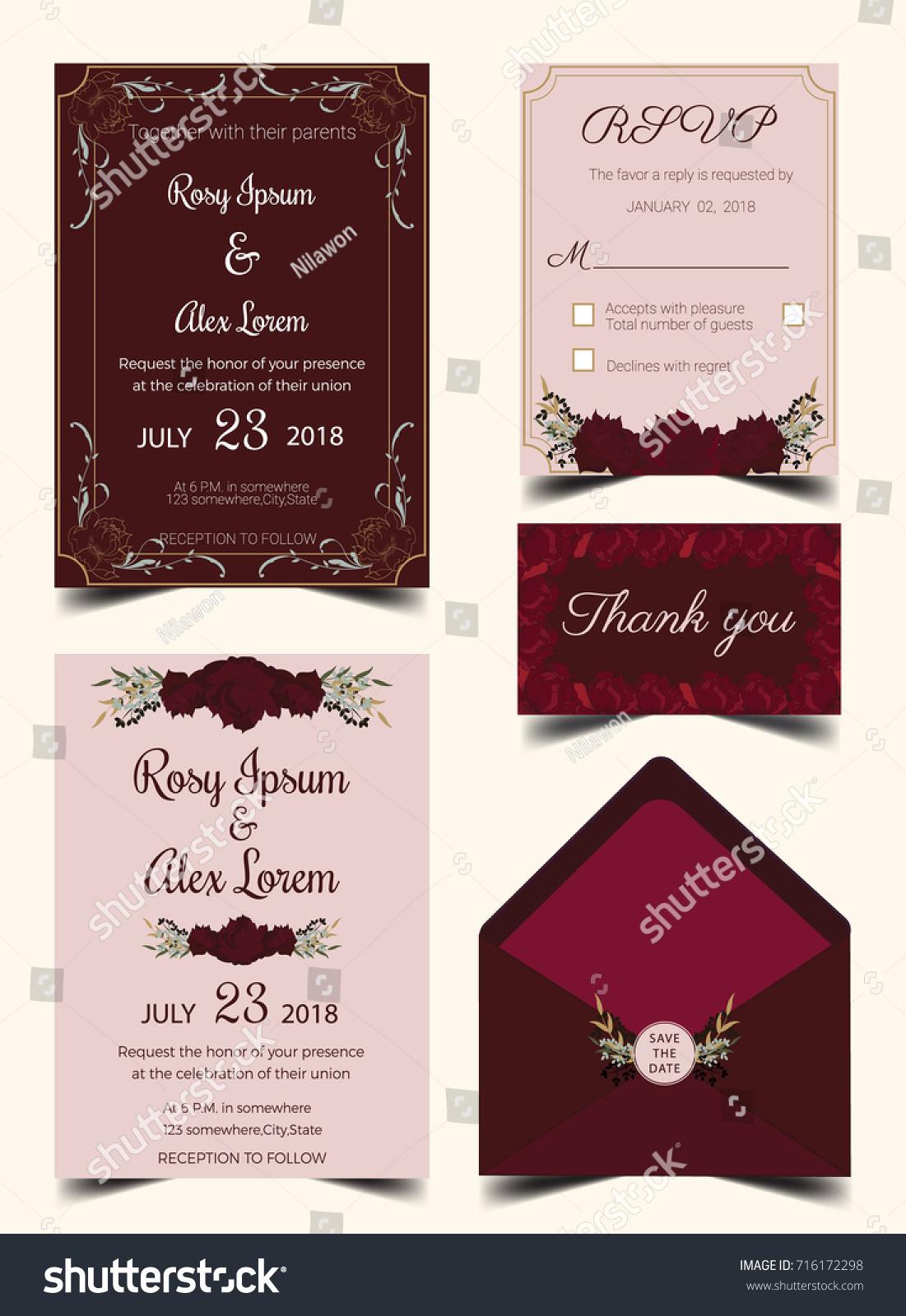 Magnificent Wedding Invitation Suite Templates Contemporary ...