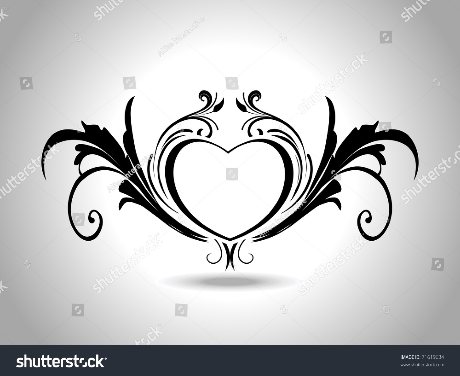 abstract grey background isolated black creative stock vector 71619634 shutterstock. Black Bedroom Furniture Sets. Home Design Ideas