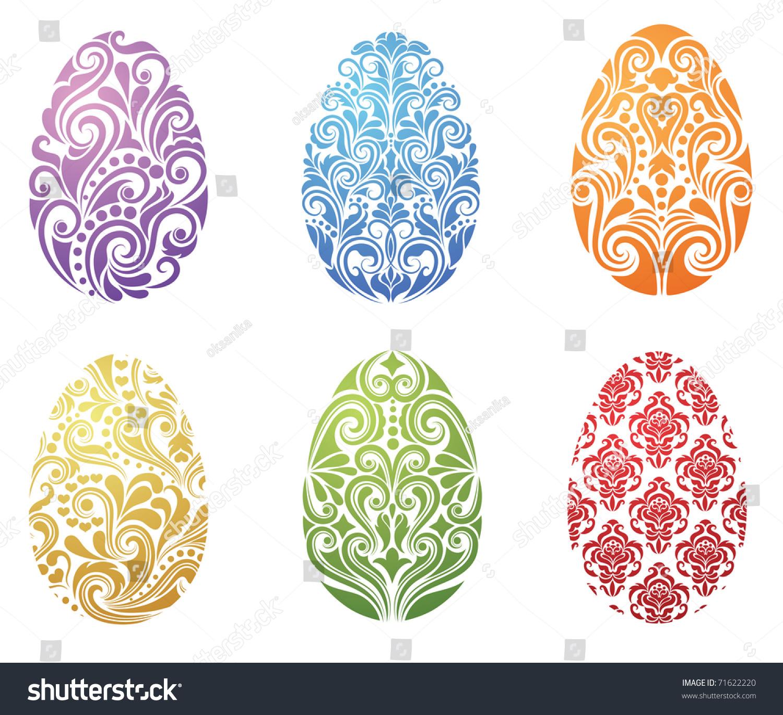 Pattern Shape Egg Stock Vector 71622220 - Shutterstock