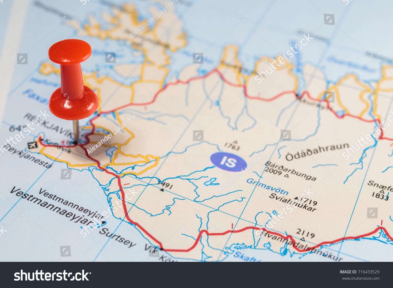 Reykjavik Map Pushpin Stock Photo Shutterstock - Reykjavík map
