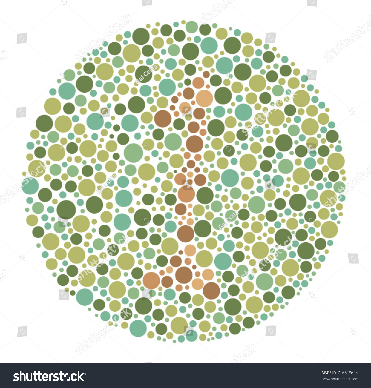 Ishihara Color Test Color Blind Test Stock Vector (Royalty Free ...