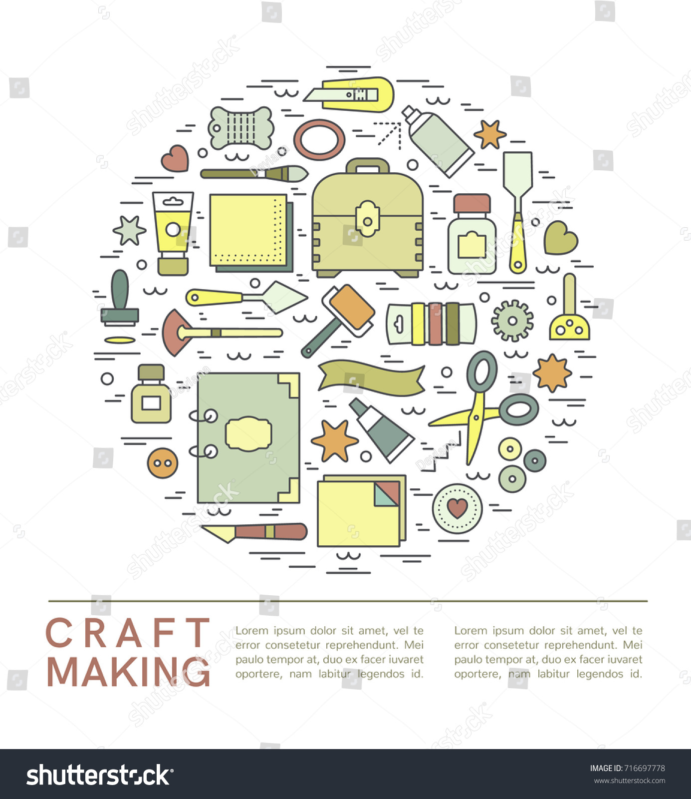 Craft Supplies Poster Template For Flyer And Banner Show Sale