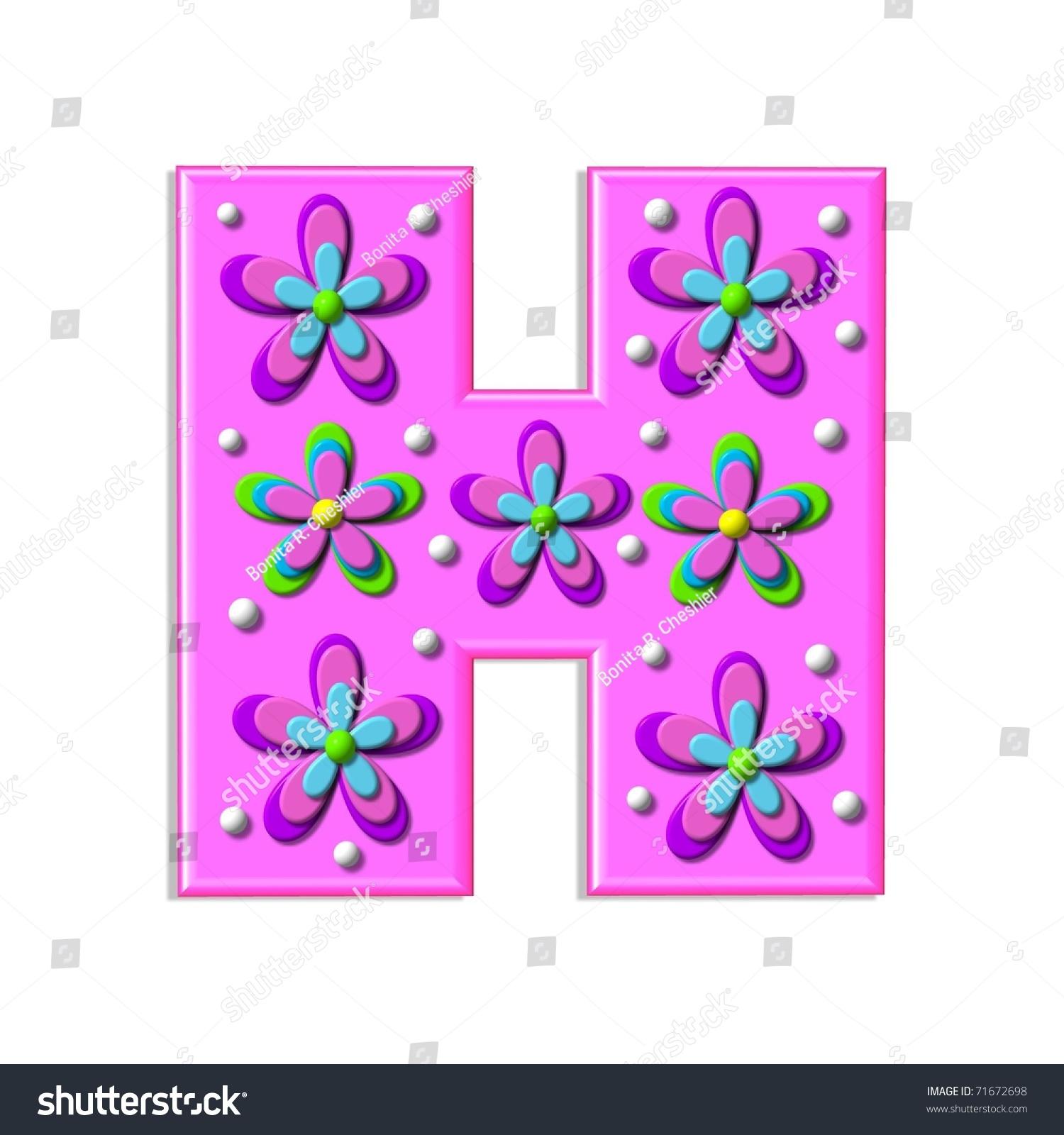 Funky Hot Pink Letter H Part Stock Illustration 71672698 - Shutterstock