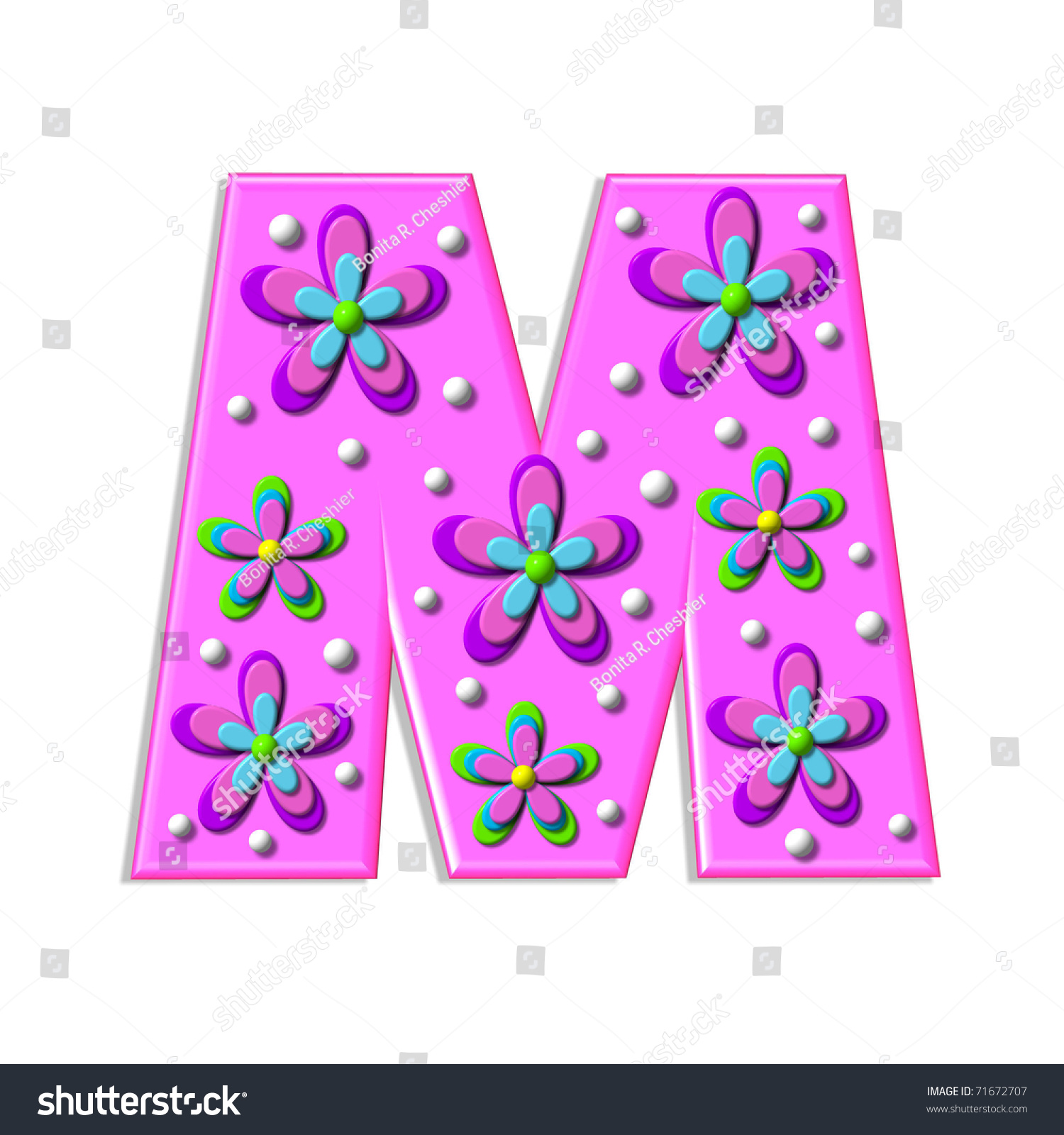 Funky Hot Pink Letter M Part Stock Illustration - Royalty Free Stock ...