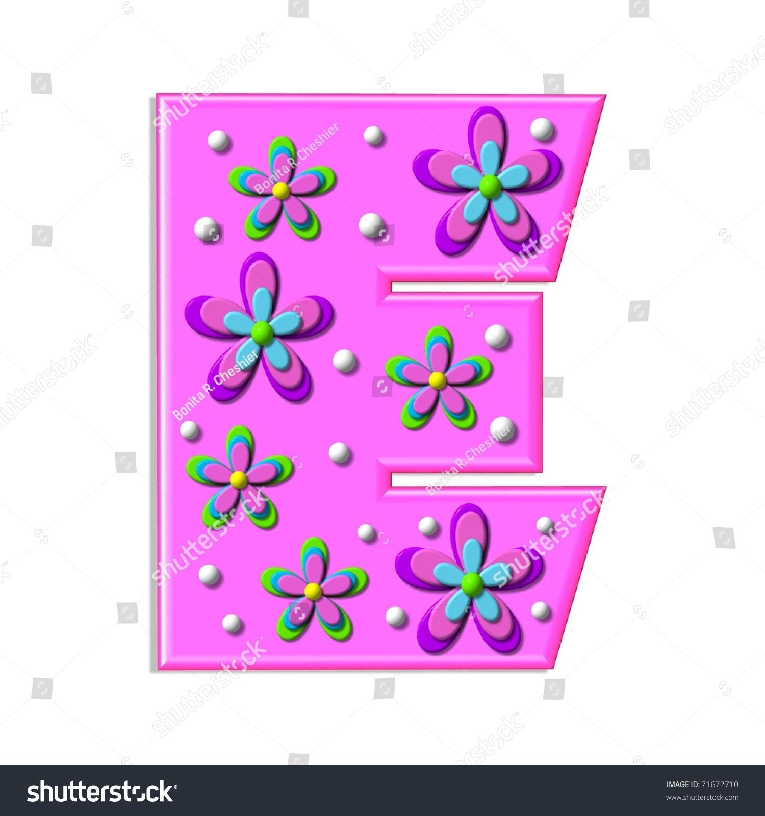 Funky Hot Pink Letter E Part Stock Illustration 71672710 - Shutterstock
