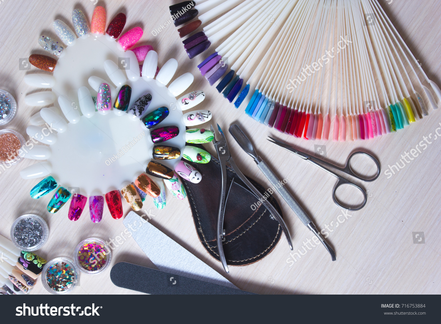 Table Full Manicure Utensils Manicure Tools Stock Photo (Royalty ...