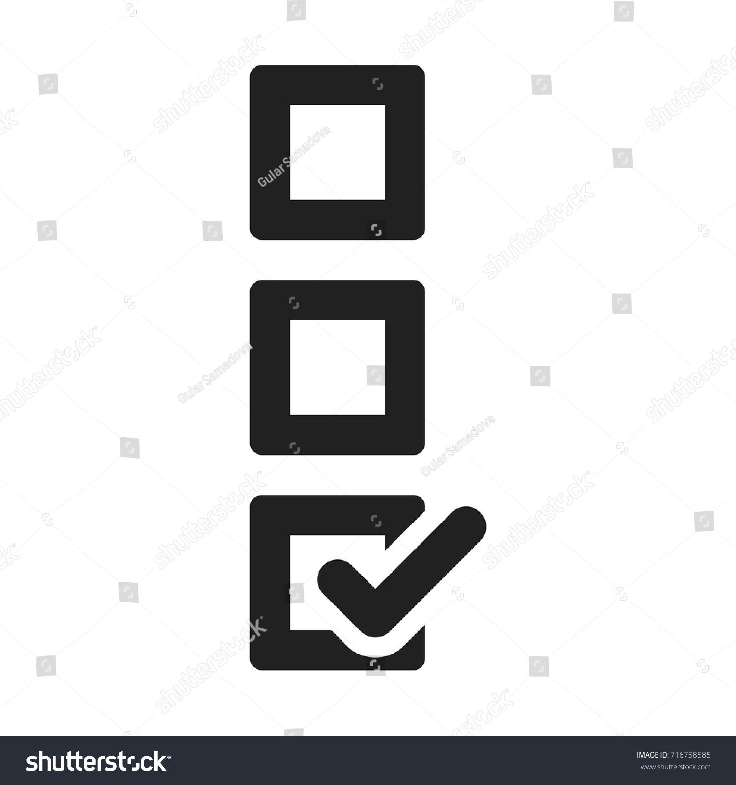 Checked box icon stock vector 716758585 shutterstock checked box icon biocorpaavc Gallery