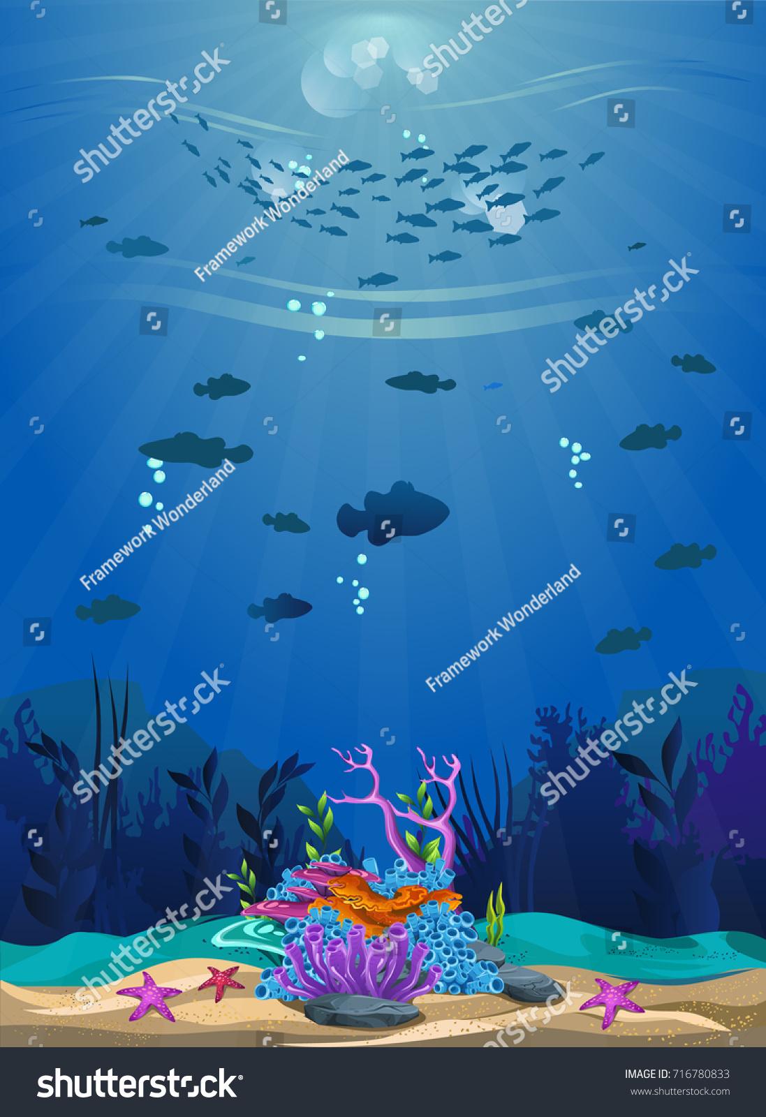 beautiful underwater scene beautiful underwater background stock