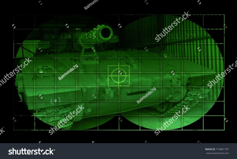 Tank Merkava View Through Night Vision Stock Illustration 716801797 Schematic