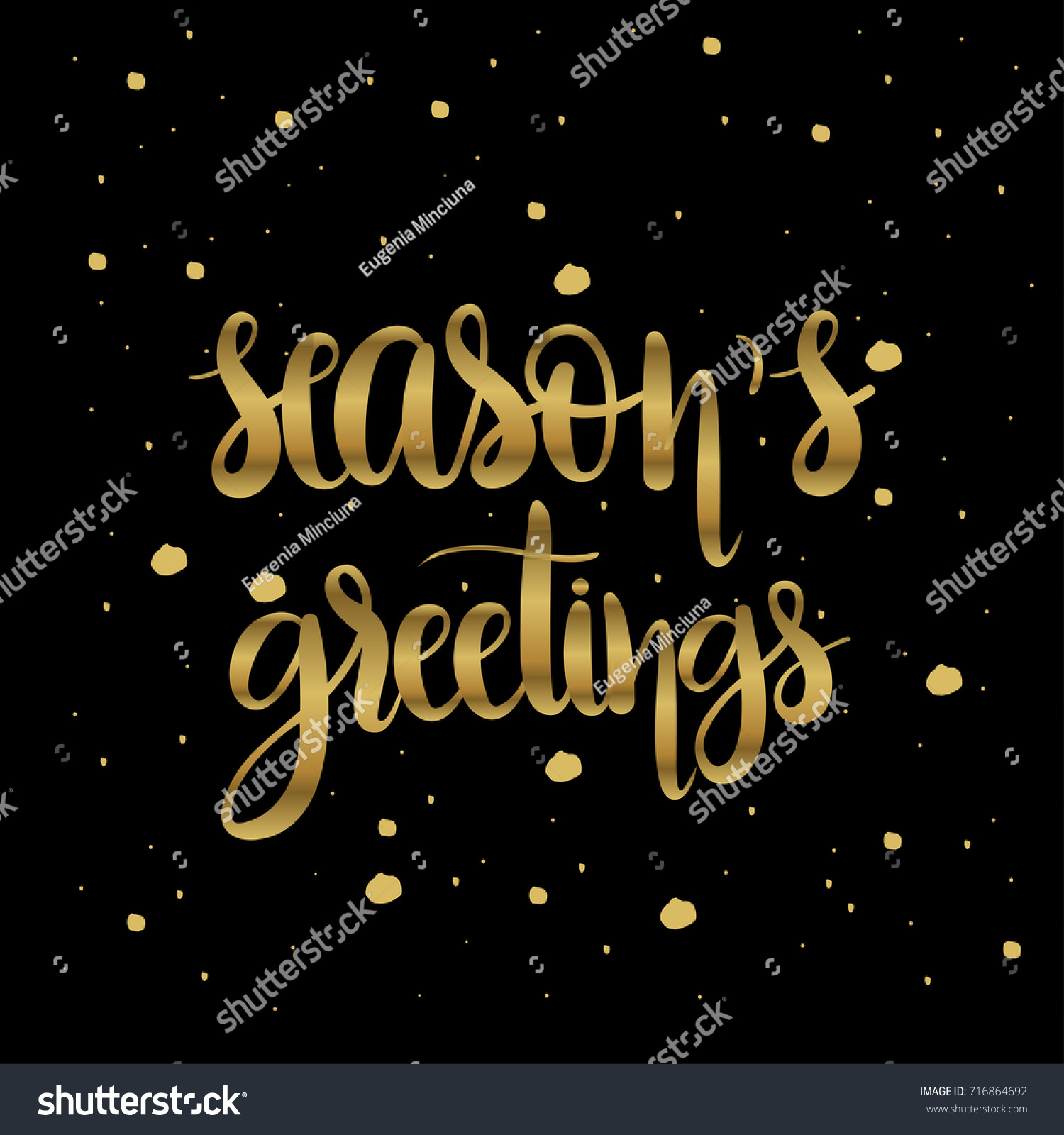 Seasons greetings unique hand drawn typographic stock vector seasons greetings unique hand drawn typographic posterctor artrfect design for cards kristyandbryce Gallery