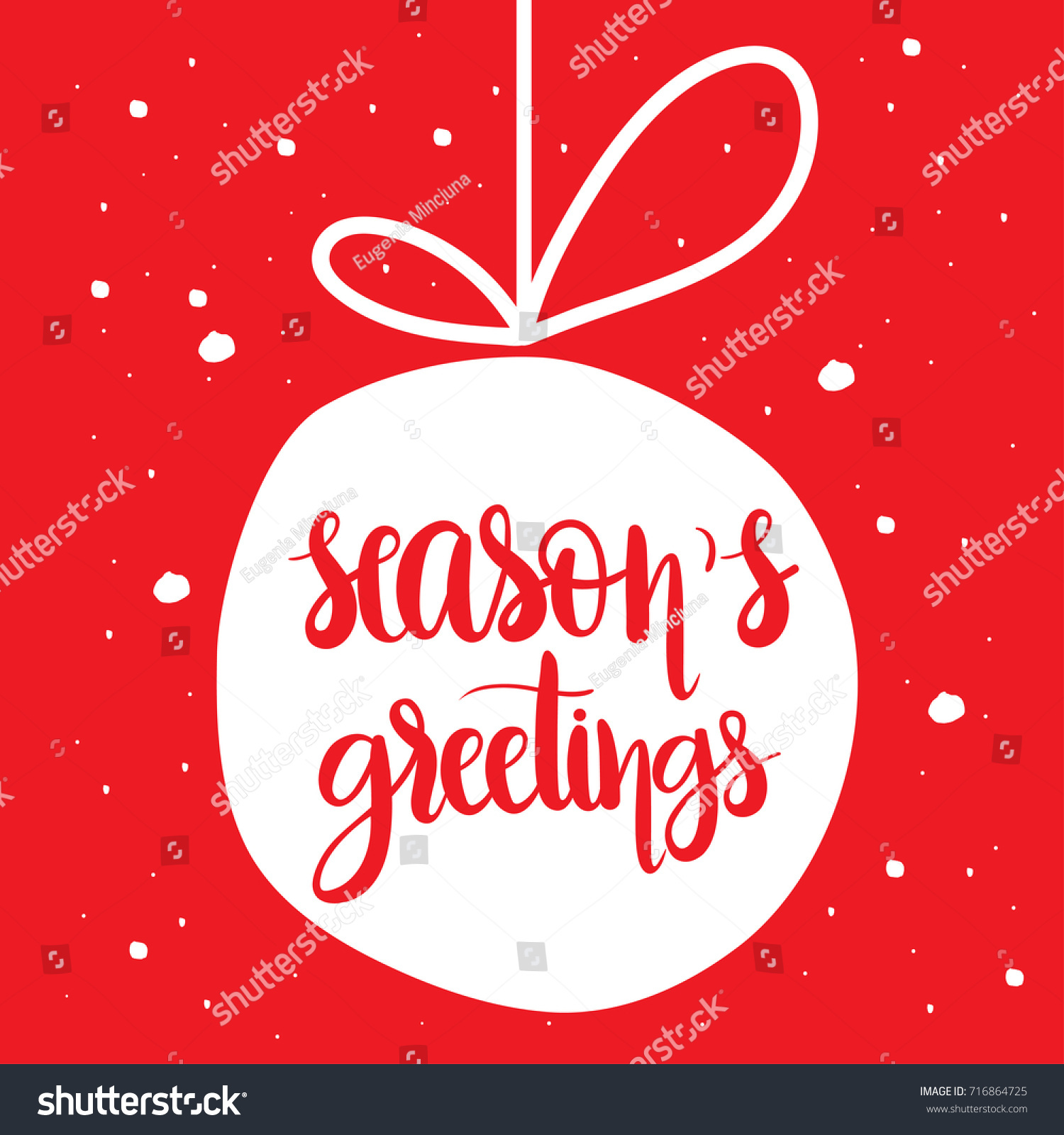 Seasons greetings unique hand drawn typographic stock vector seasons greetings unique hand drawn typographic posterctor artrfect design for cards kristyandbryce Choice Image