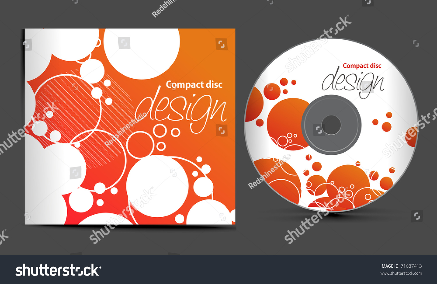 vector cd cover design template with copy space vector illustration 71687413 shutterstock. Black Bedroom Furniture Sets. Home Design Ideas