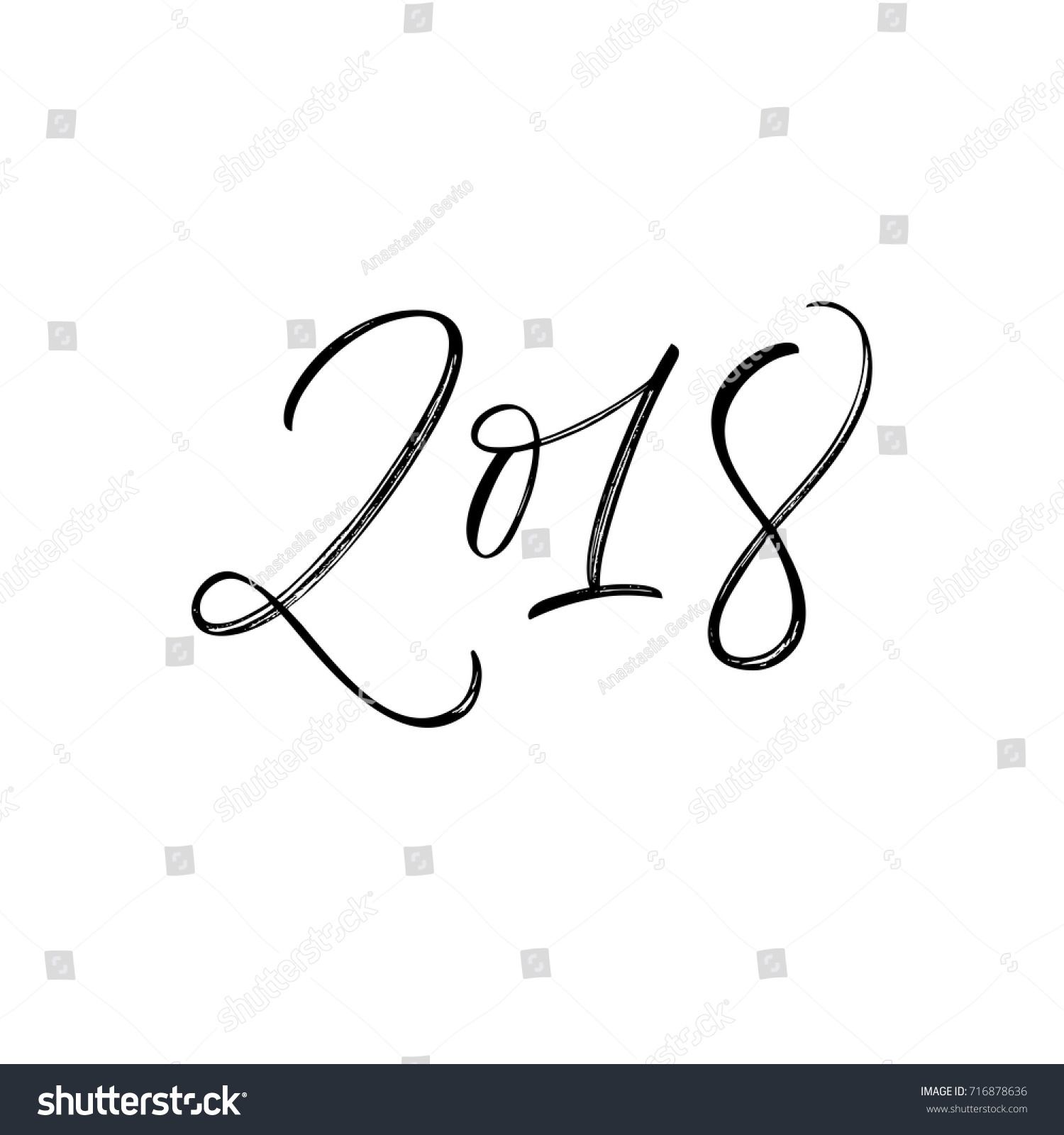 Happy new year holiday lettering stock vector