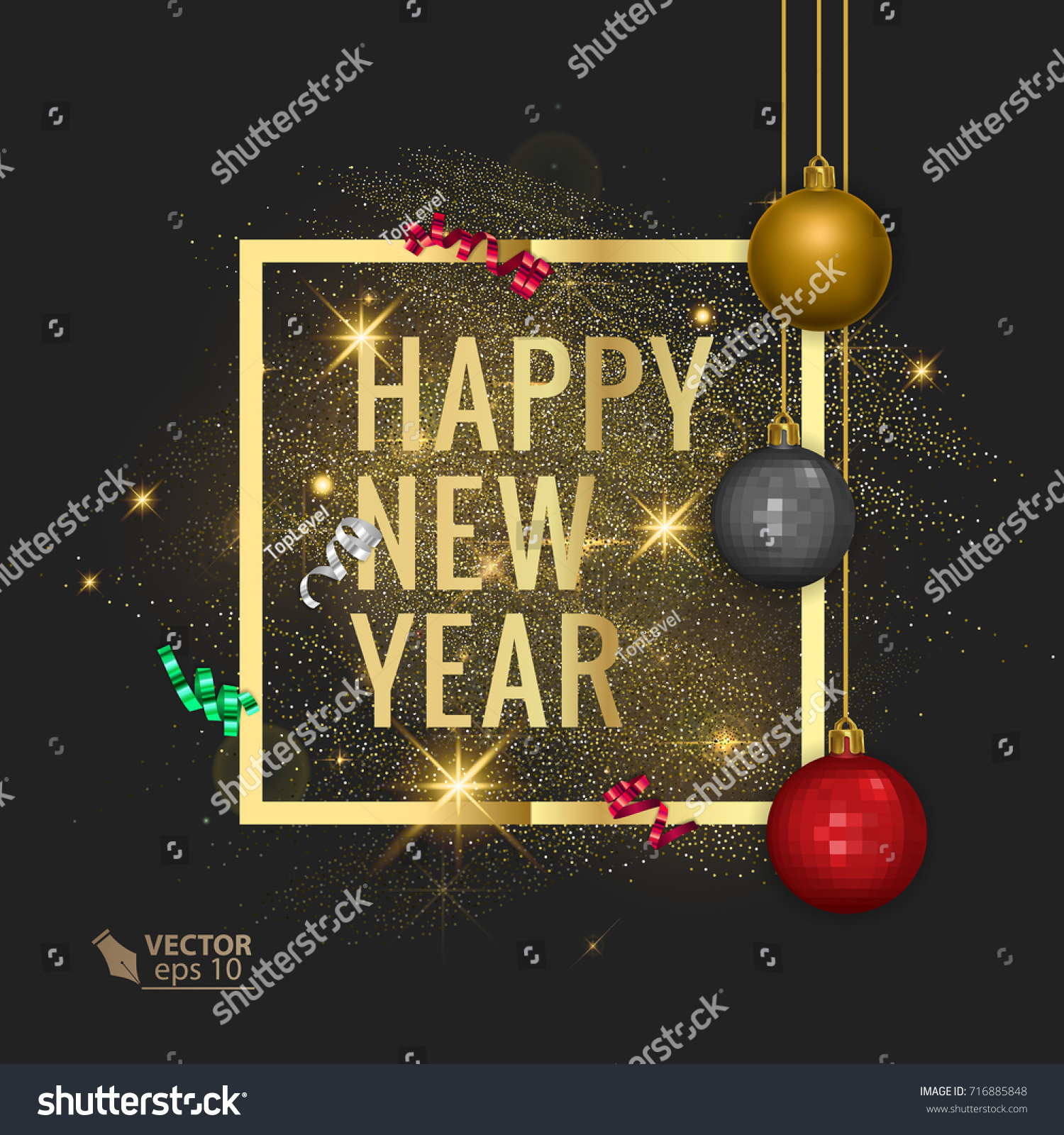 merry christmas and happy new year 2018 greeting card vector eps 10 illustration