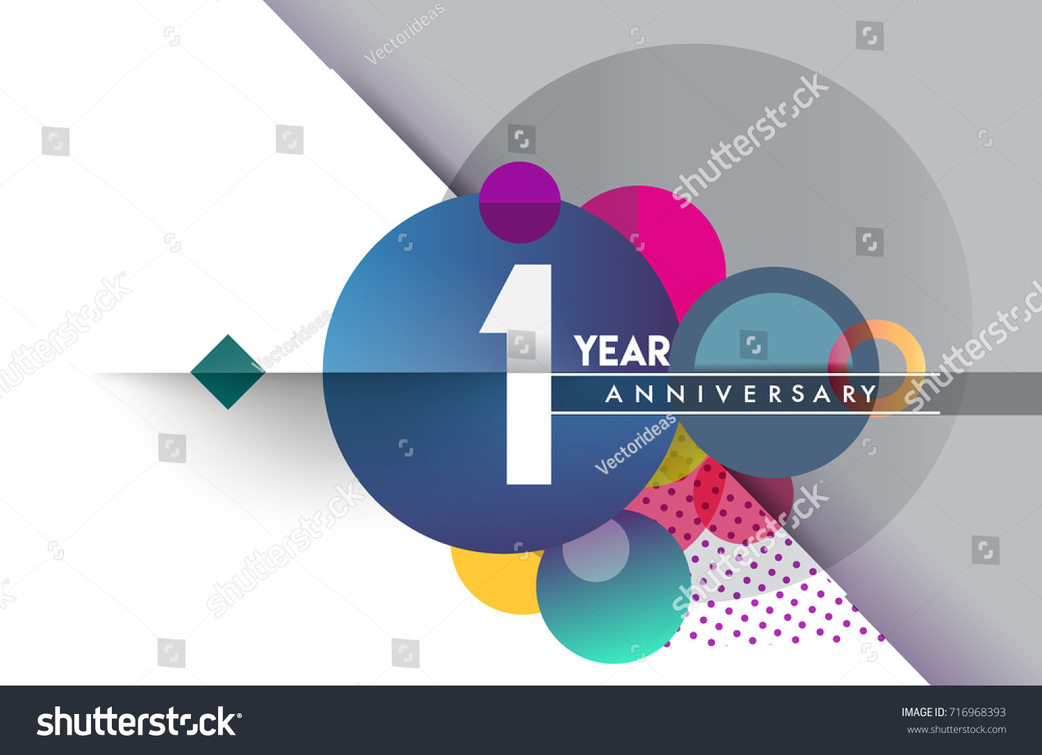 St year anniversary logo vector design stock vector