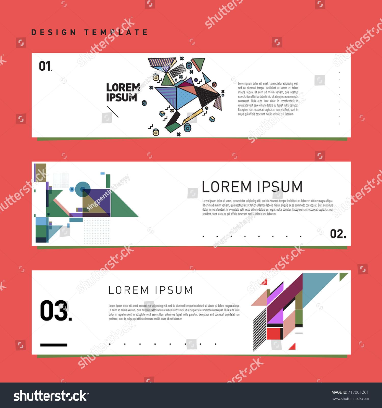 Vector Set Abstract Banner Web Design Stock Vector 717001261 ...