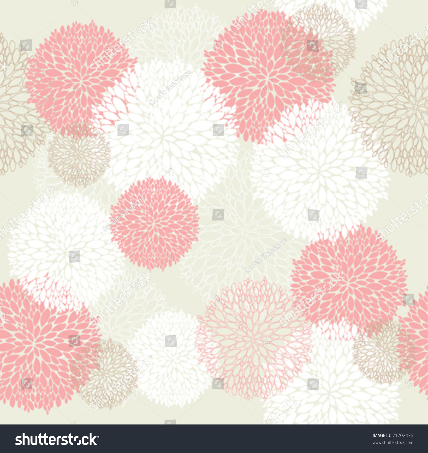 seamless cute spring summer flowers pattern stock vector