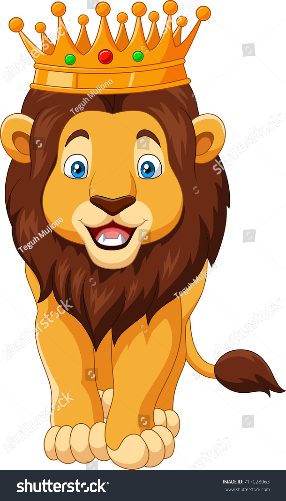 Cartoon Lion Wearing Crown Stock Vector Royalty Free 717028063 Choose from 1030000+ cartoon head crown illustration graphic resources and download in the form of png, eps, ai or psd. https www shutterstock com image vector cartoon lion wearing crown 717028063