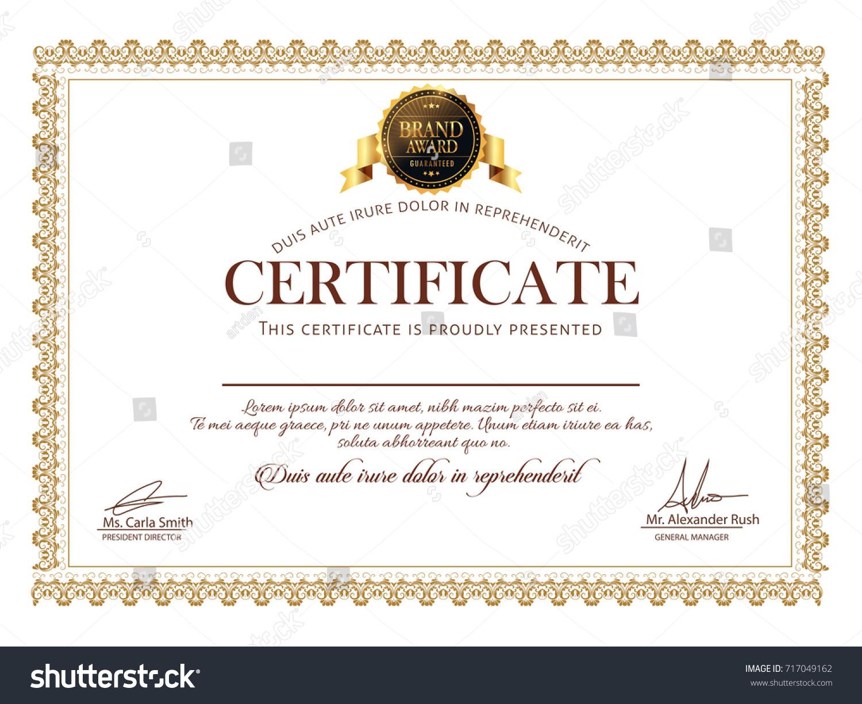Nice Beautiful Certificate Design