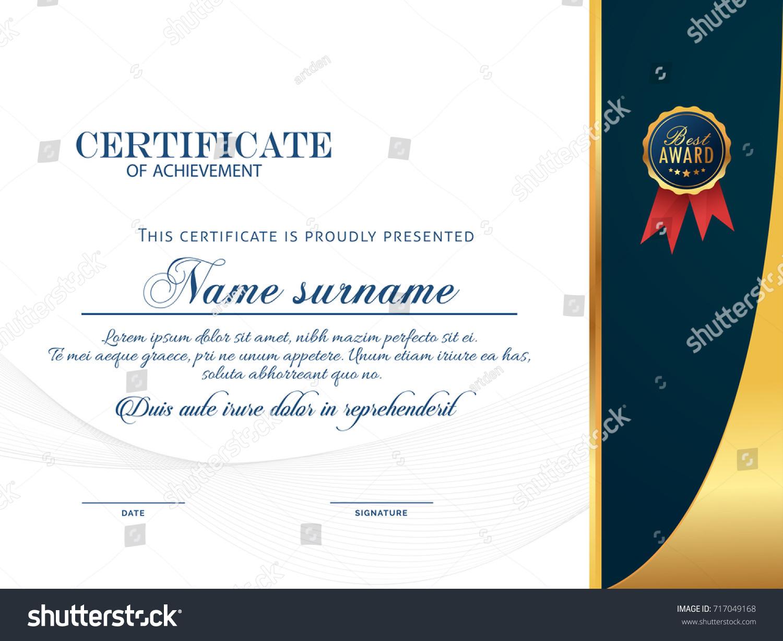 Nice Beautiful Certificate Design Templates Nice Stock Vector