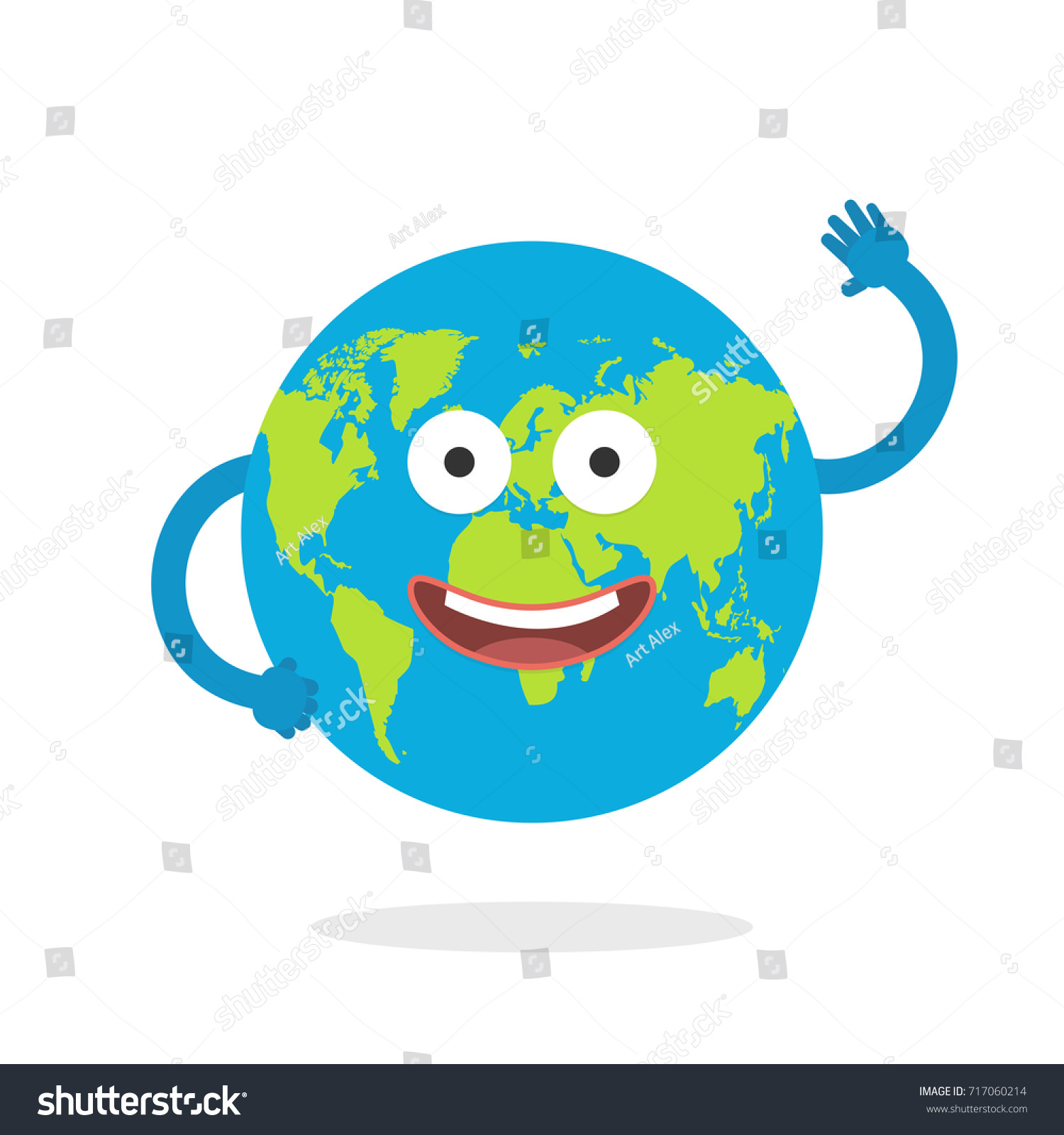cartoon earth character world map globe stock vector 717060214 shutterstock