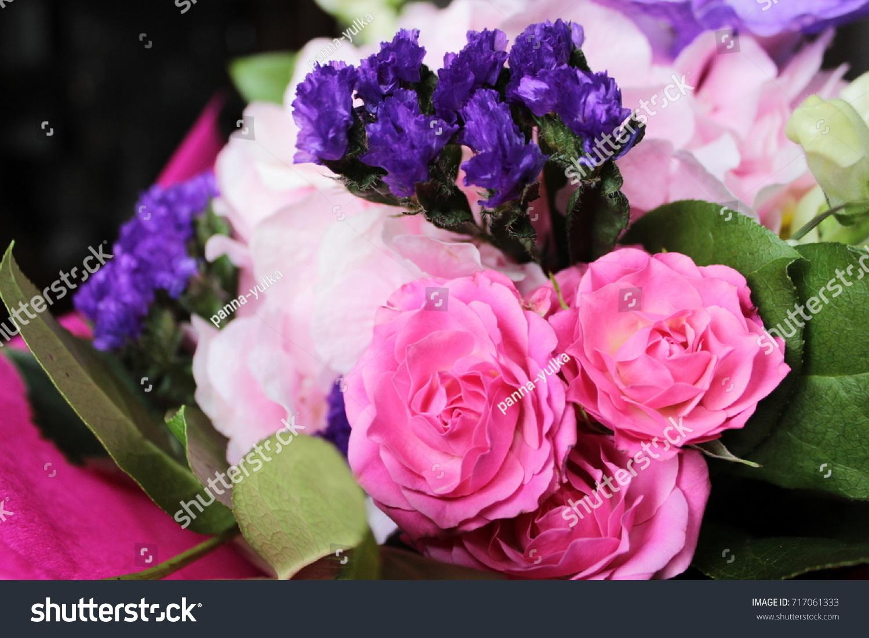Very Beautiful Bouquet Great Pink Hydrangea Stock Photo Edit Now