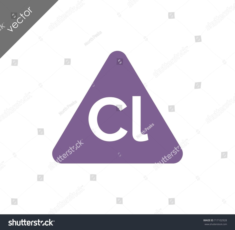 Chlorine symbol icon stock vector 717102928 shutterstock chlorine symbol icon gamestrikefo Image collections