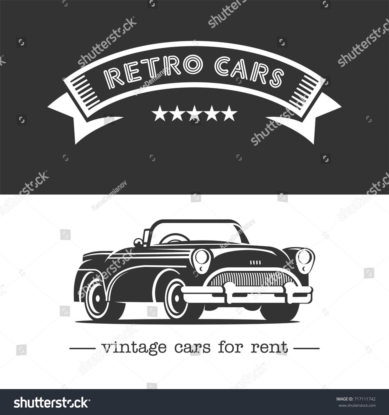 Vintage Car Monochrome Vector Logo Retro Stock Vector HD (Royalty ...