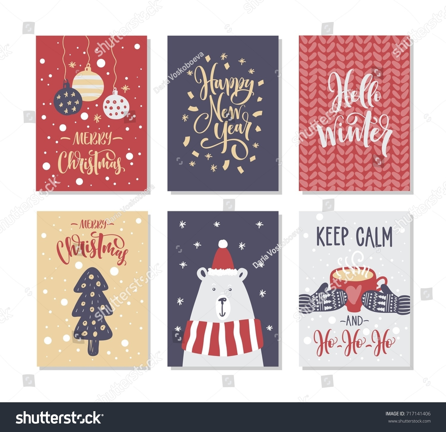 Christmas gift cards tags lettering hand stock vector 717141406 christmas gift cards or tags with lettering hand drawn design elements negle Images
