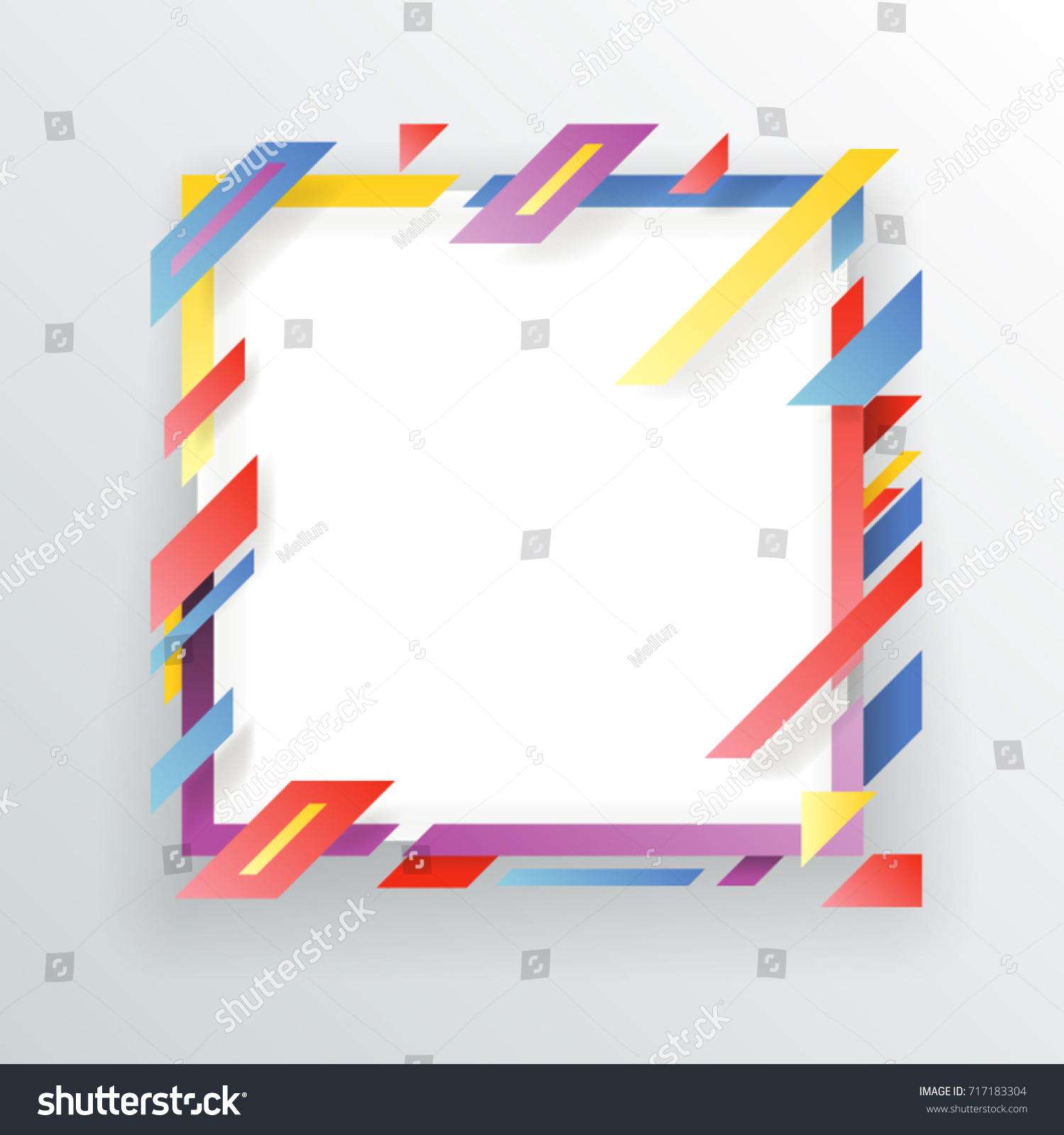 Abstract Paper Frame Flyer Geometric Background Stock Vector ...