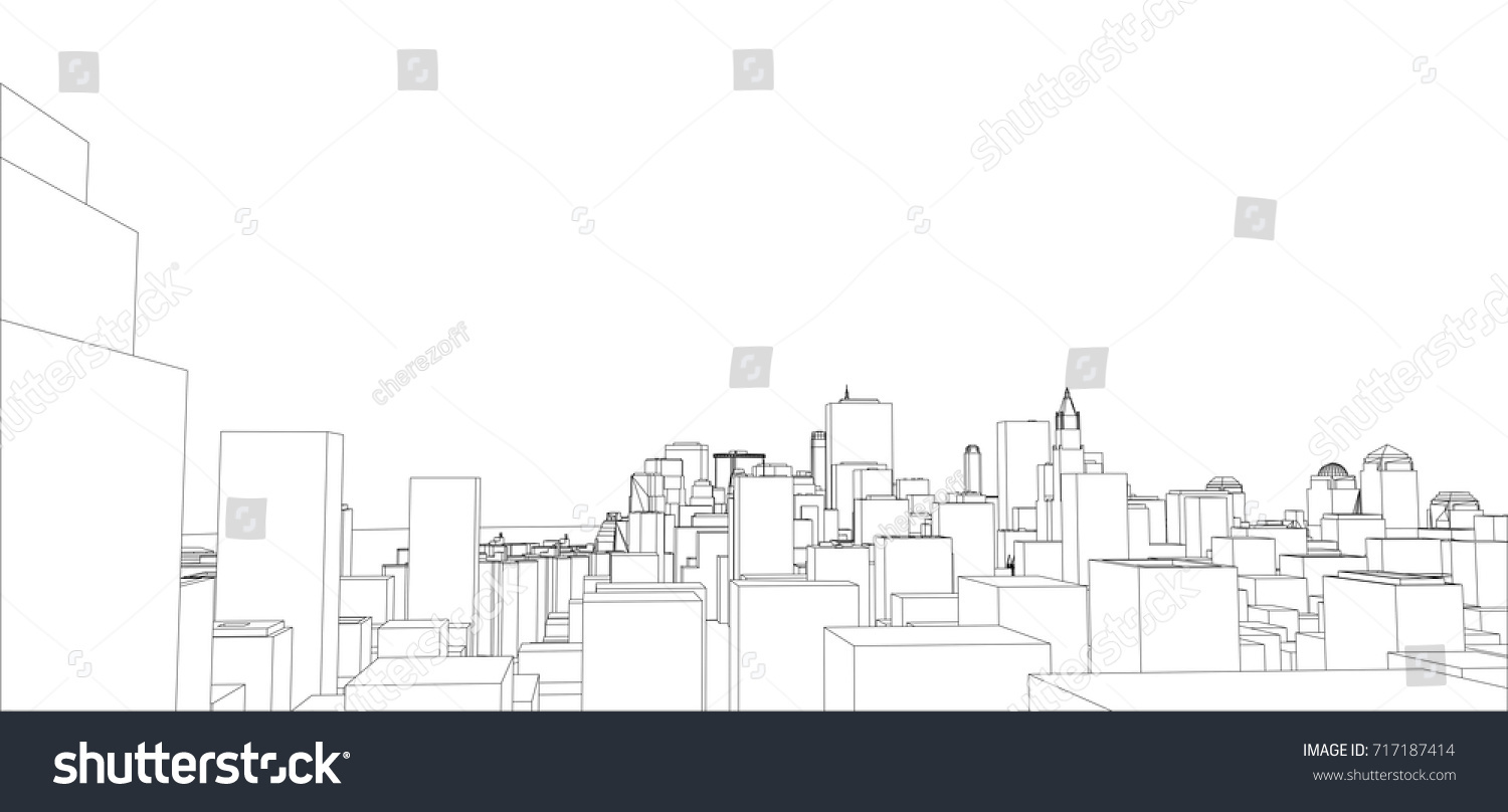 Wireframe new york city blueprint style vectores en stock 717187414 wire frame new york city blueprint style 3d rendering vector illustration architecture malvernweather Image collections