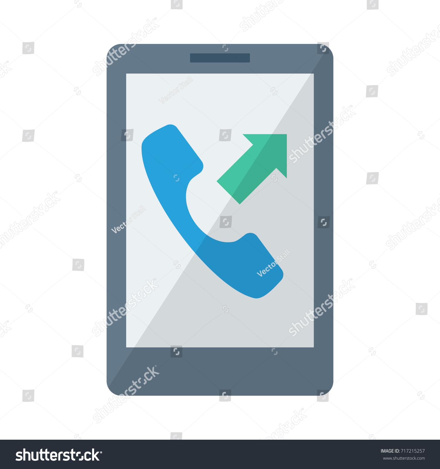 Mobile Outgoing Call Icon เวกเตอร์สต็อก 717215257 ...
