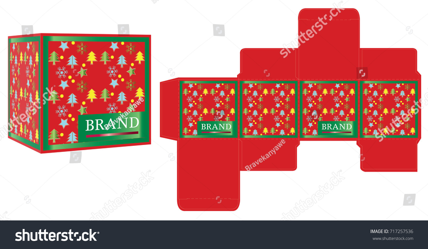 Packaging Design Gift Box Design Template Stock Vector Royalty Free 717257536