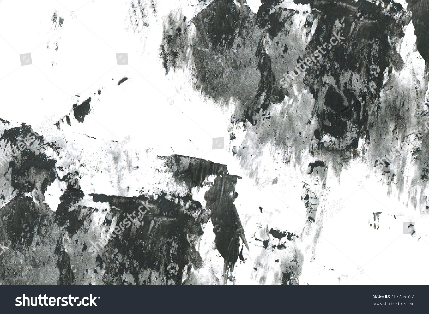 Abstract Ink Background Marble Style Black Stockillustration