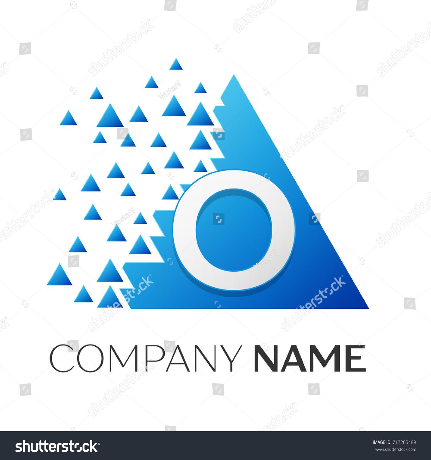 Realistic Letter O Logo Symbol Colorful Stock Illustration 717265489
