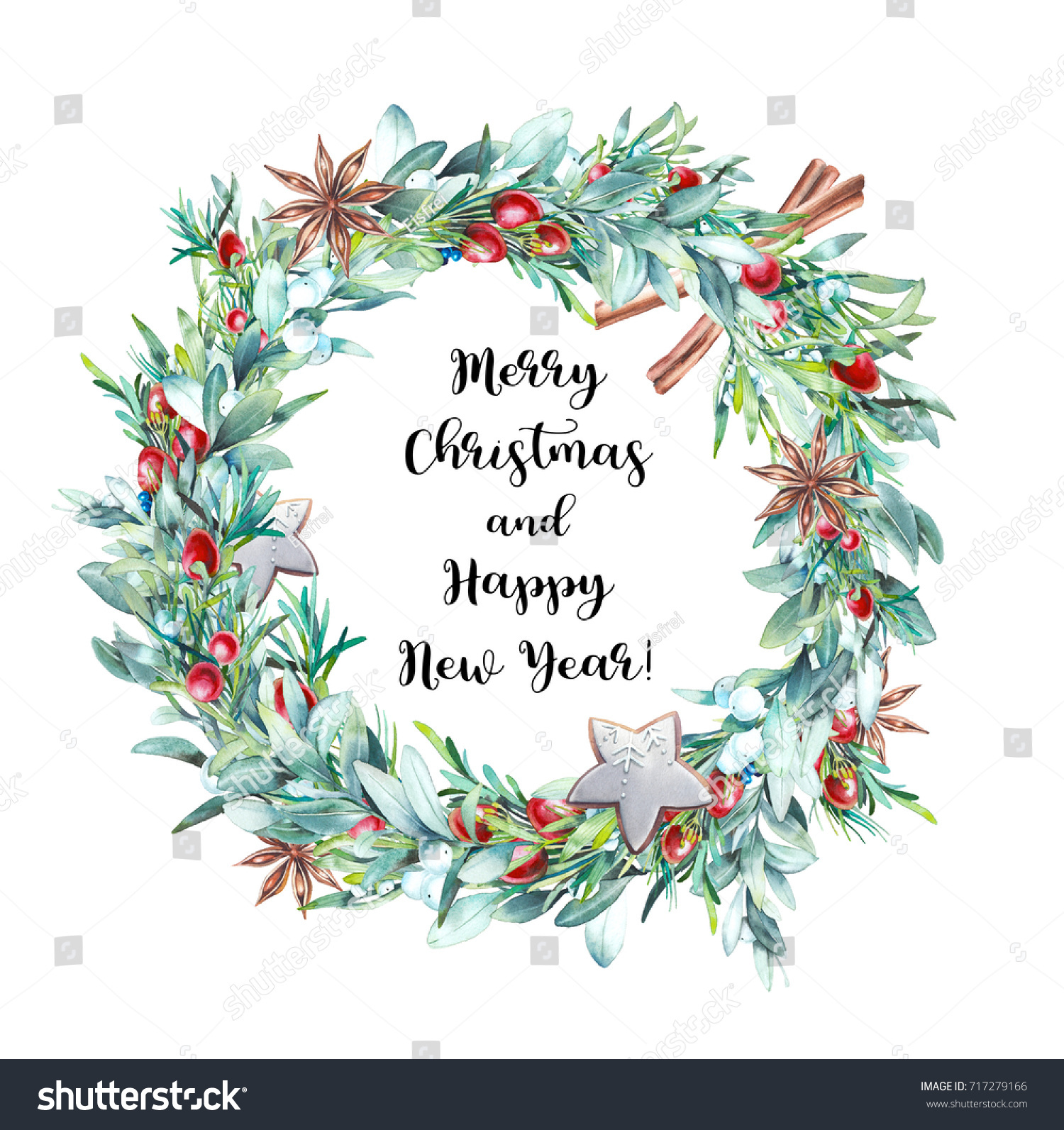 Merry Christmas Happy New Year Card Stock Illustration 717279166 ...