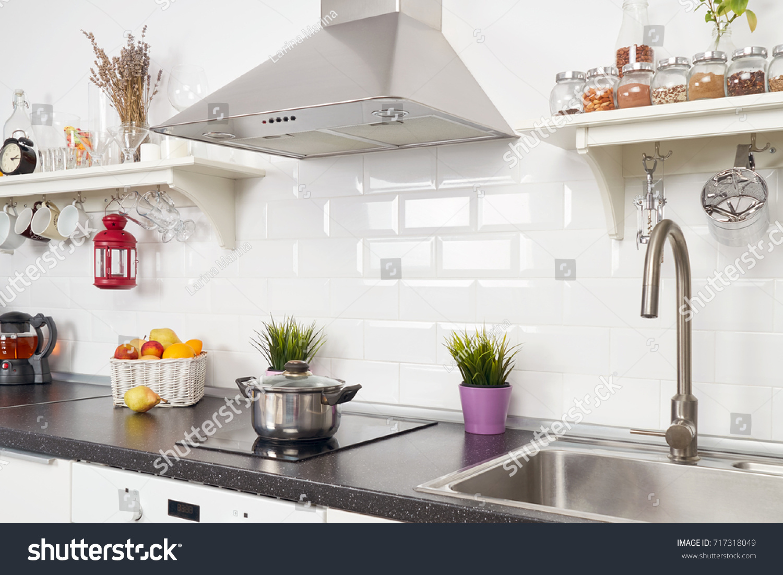 Blurred Interior Light Kitchen Apartment Bright Stock Photo & Image ...