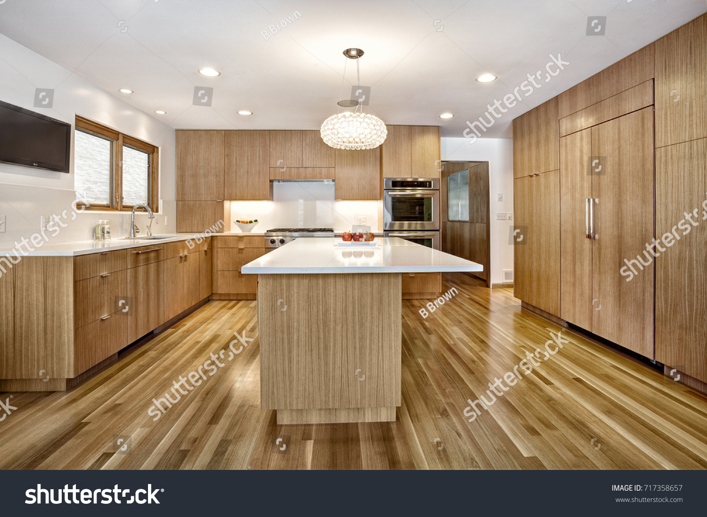 Modern Custom Quarter Sawn White Oak Stock Photo Edit Now 717358657