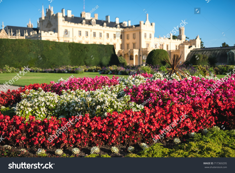 Gardens Castle Lednice Moravia Region Czech Stock Photo 717369295