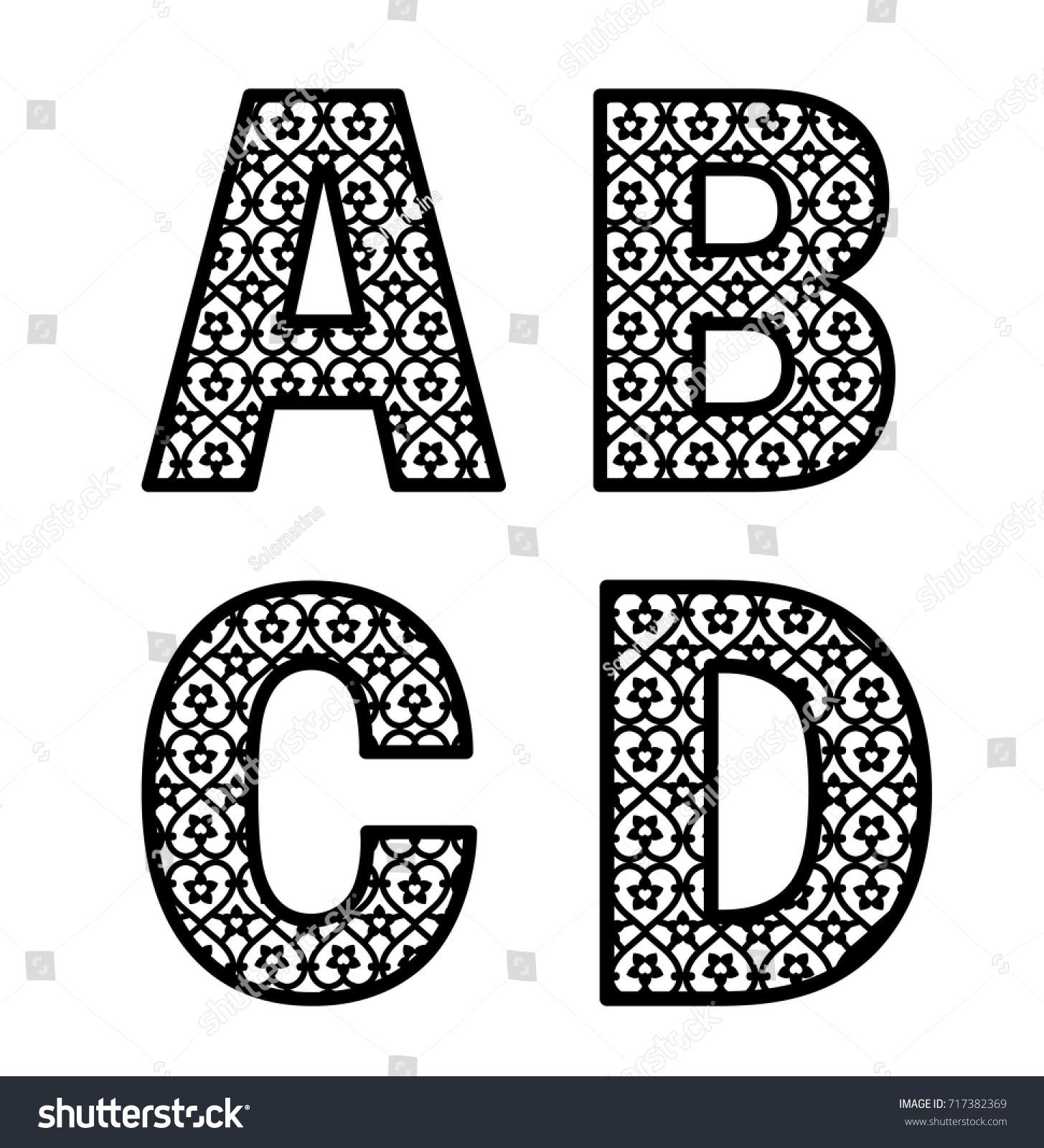 Letters A B C D Laser Stock Vector 2018 717382369 Shutterstock